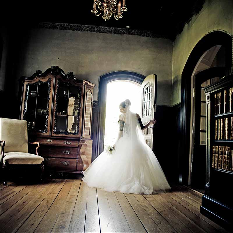 brud ved bryllup